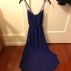 Zara Dark Blue High Low Dress in size small